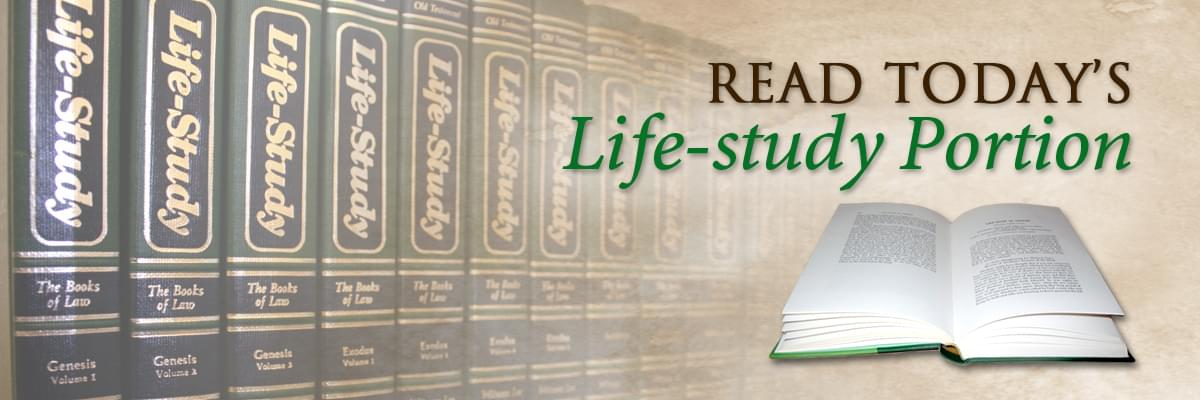 Read Today's Life-study Portion